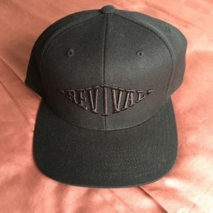 Black on Black Revival Cycles Snap Back Hat